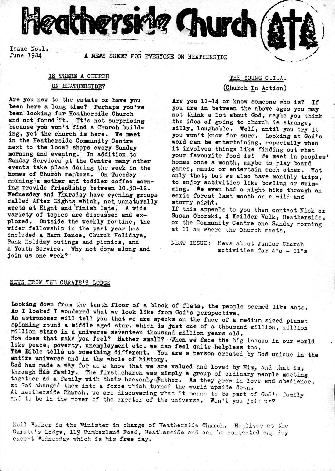 Bulletin Issue 1 June 1984
